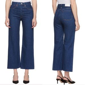 NWT Levi's Re/Done Wide Leg Cropped Rigid Jeans